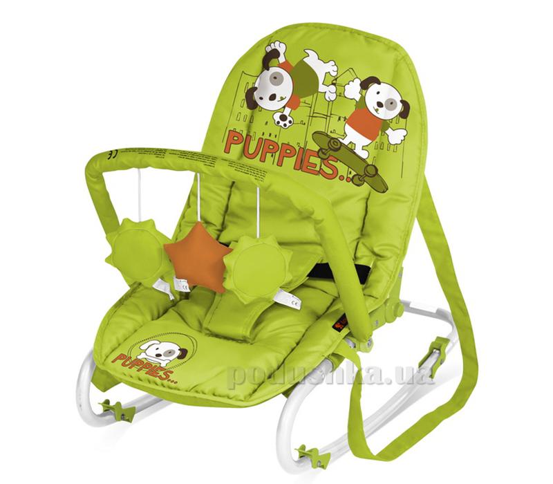 Кресло-качалка Bertoni Top Relax with Toy Green-Orange Puppies