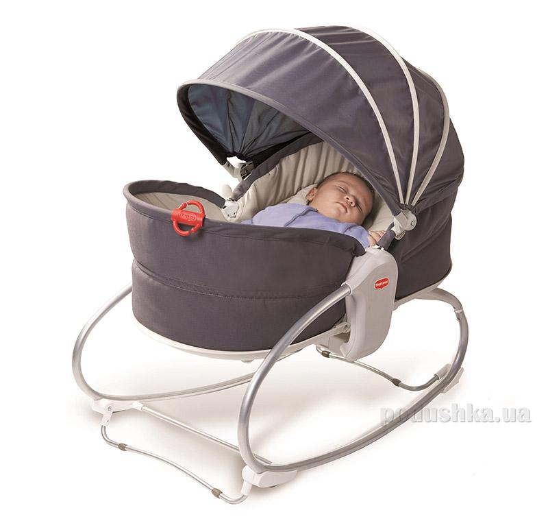 Кресло-кроватка-качалка 3 в 1 Мамина любовь с капюшоном Tiny Love