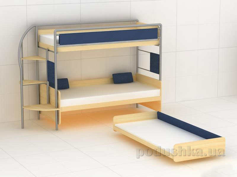 Двухъярусная кровать с тремя спальными местами своими руками
