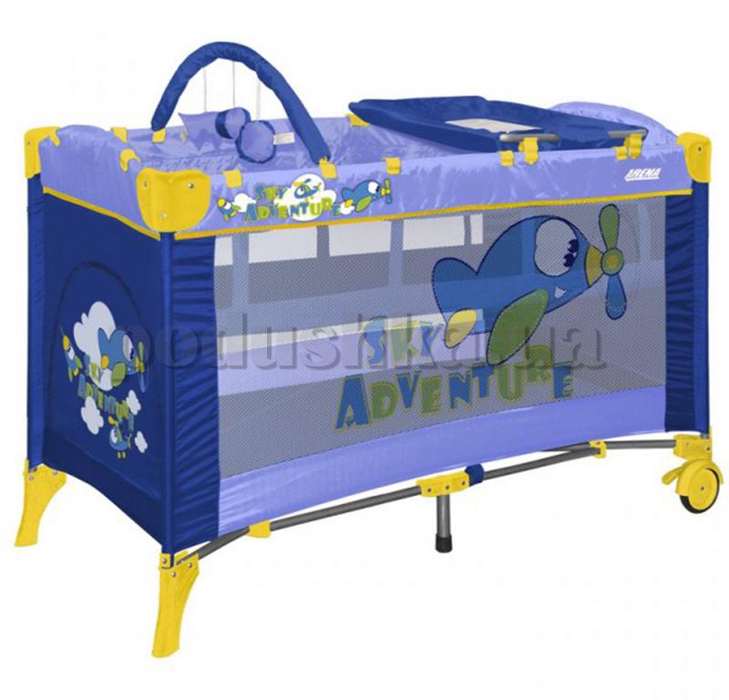 Кровать-манеж Bertoni Arena 2 Layers Blue Sky Adventure