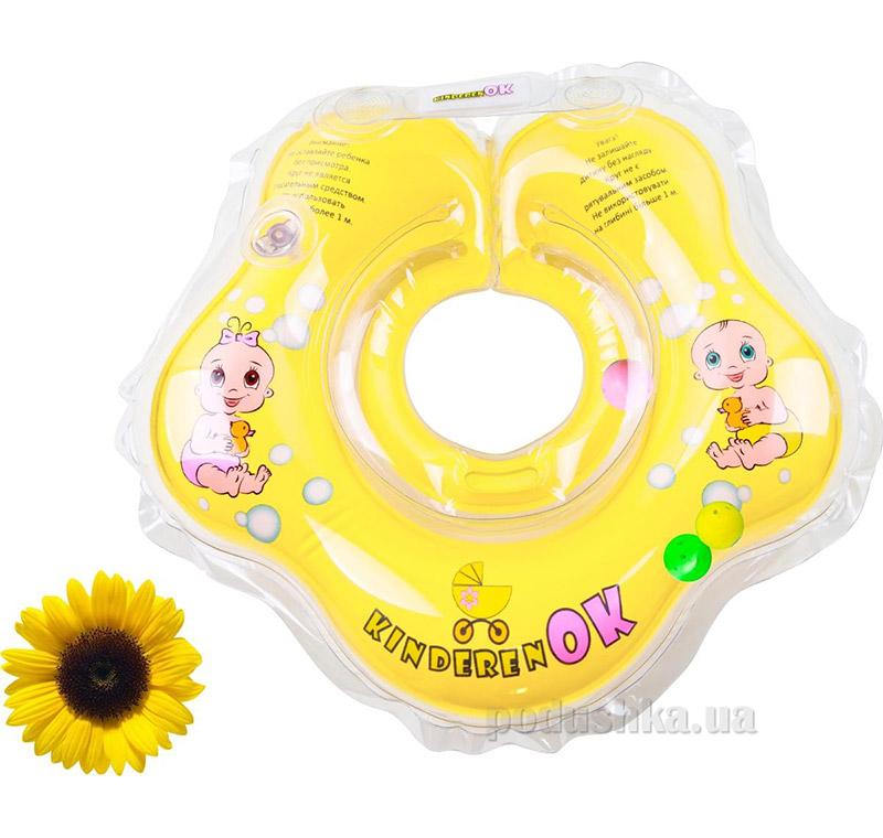 Круг надувной солнышко с погремушкой KinderenOk
