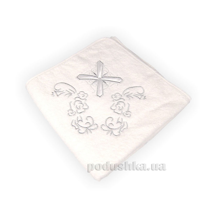 Крыжма для крещения с крестиком (серебро)