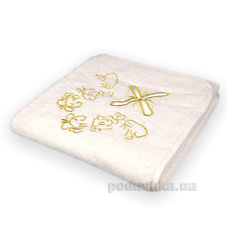 Крыжма для крещения с крестиком (золото)