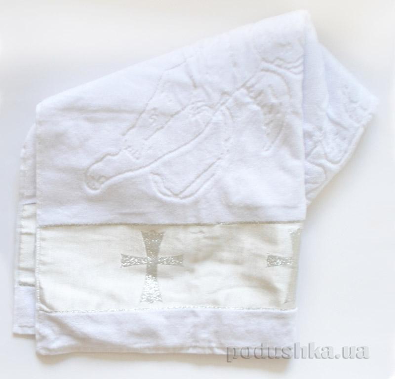 Крыжма для крещения Серебряный Крест (объемная вышивка)