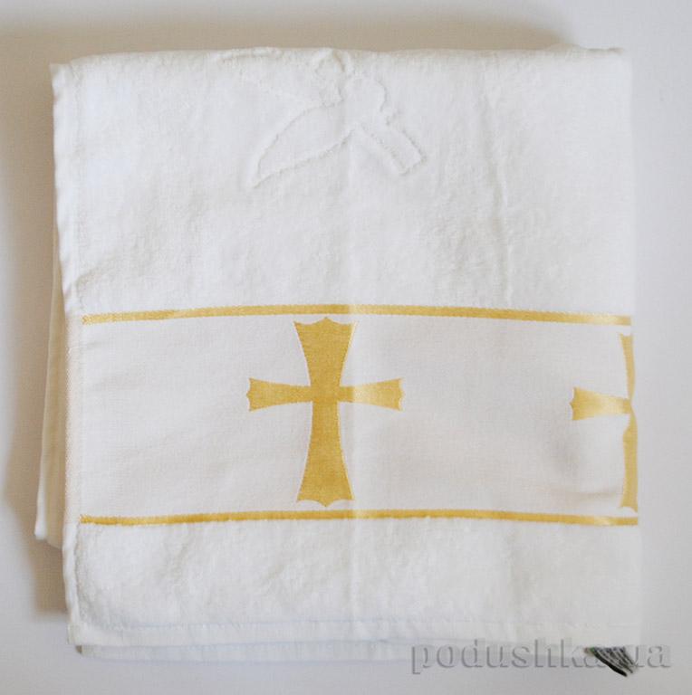 Крыжма для крещения Золотой Крест объемная вышивка