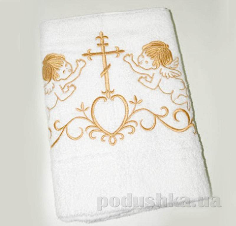 Крыжма для малыша Nostra белый-золото 100х150 см  Nostra