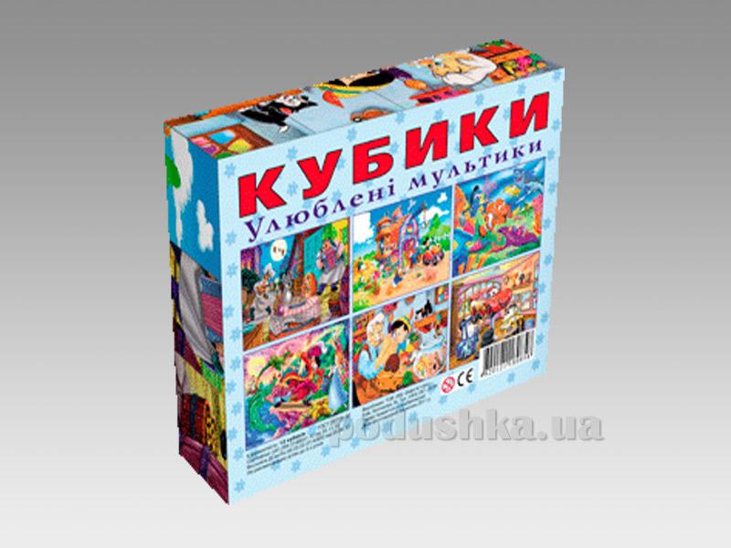 Кубики Energy Plus Любимые мультики 12 шт