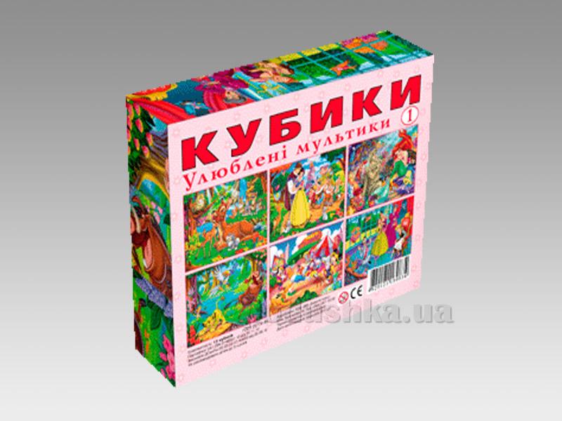 Кубики Energy Plus Любимые мультики В-2 12 шт
