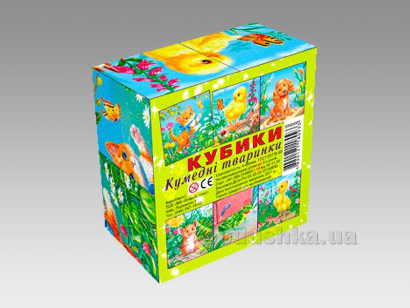 Кубики Energy Plus Забавные животные 4 шт