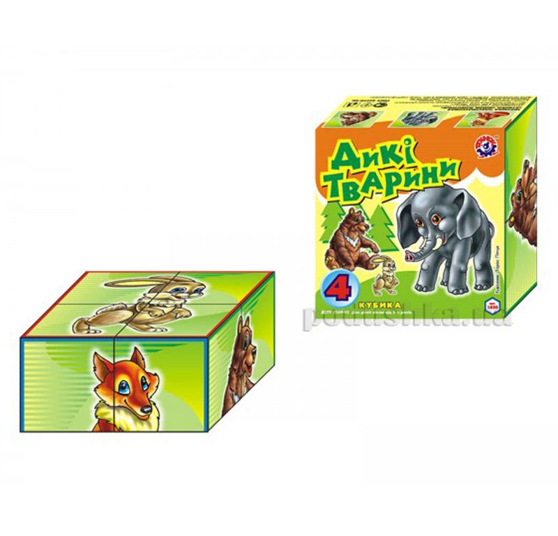 Кубики Технок Дикие животные 1820