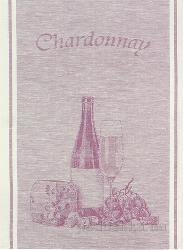 Кухонное полотенце Белорусский лен 06С22-ШР Шардоне 78 186 сиреневое