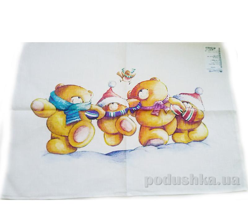 Кухонное полотенце Белорусский лен 09с93 Мишки