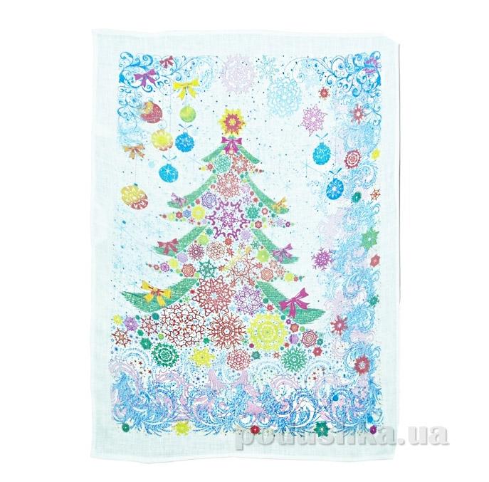 Кухонное полотенце Белорусский лен 09с93 Новогодняя елка-1