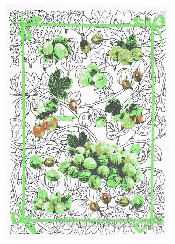 Кухонное полотенце Белорусский лен 16С153 крыжовник