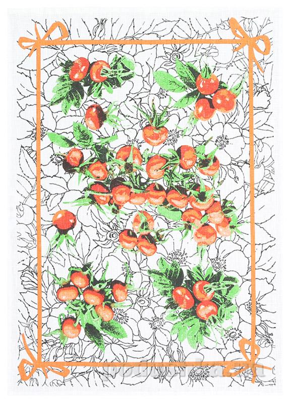 Кухонное полотенце Белорусский лен 16С153 шиповник