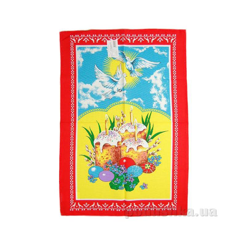 Кухонное полотенце Home line паска и голуби 105569 красное