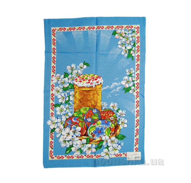 Кухонное полотенце Home line Пасха 105569 голубое