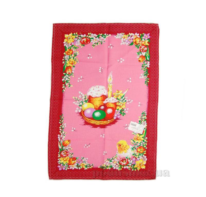 Кухонное полотенце Home line паска и тюльпаны 105569 красное