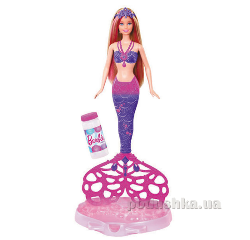 Кукла Barbie Русалочка Сказочные пузыри CFF49