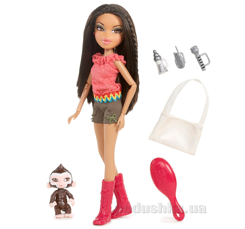 Кукла Bratz серии Модное сафари Ясмин с питомцем и аксессуарами 518679