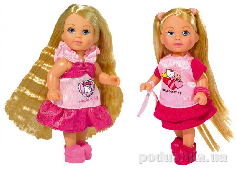 Кукла Эви Hello Kitty с аксессуарами для волос 2 вида Steffi Evi Love 5730284