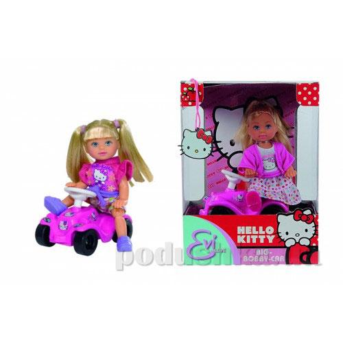 Кукла Эви Hello Kitty с машинкой, 2 вида Steffi Evi Love 5730973