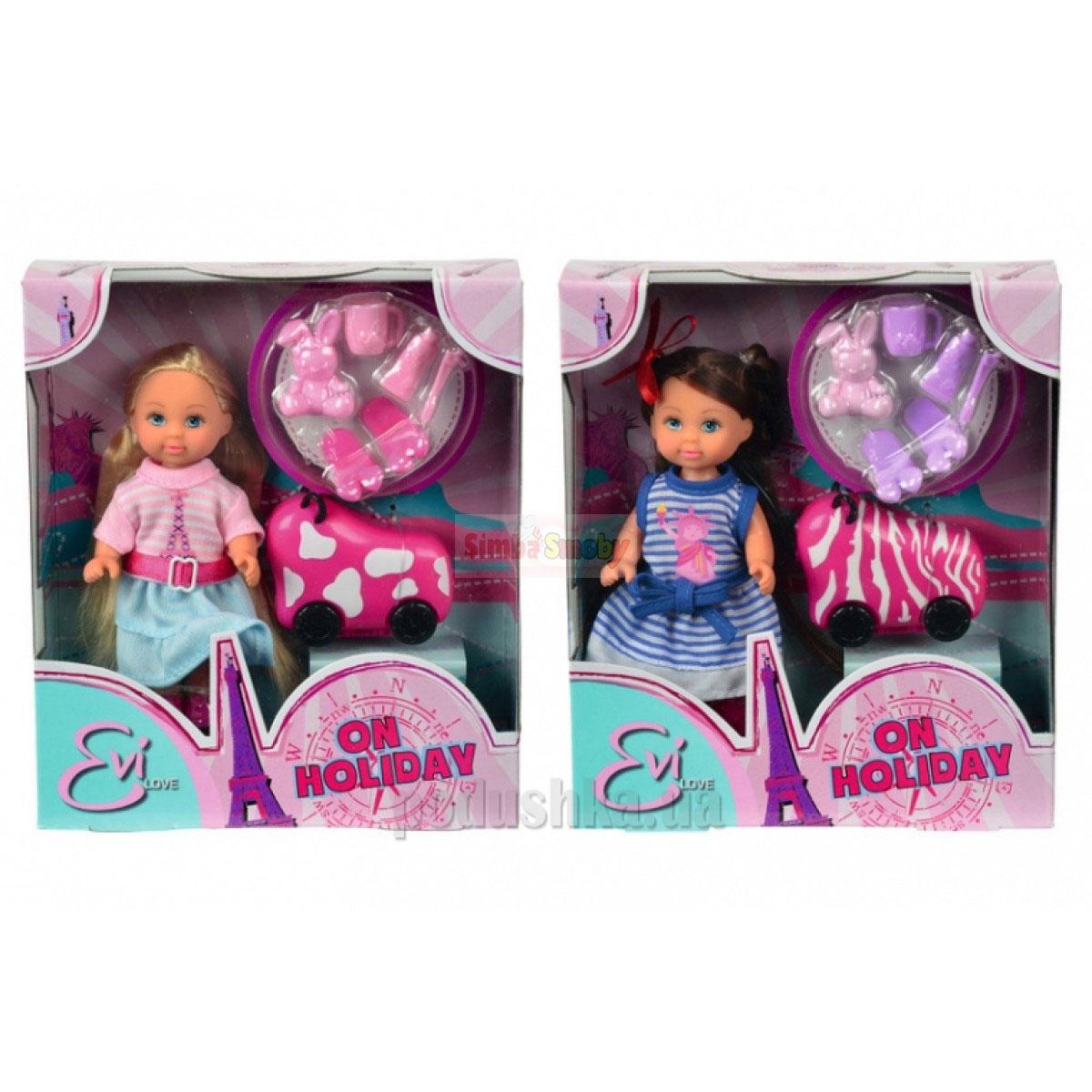 Кукла Эви Каникулы с чемоданом, 6 аксессуаров, 2 вида Steffi Evi Love 5730942