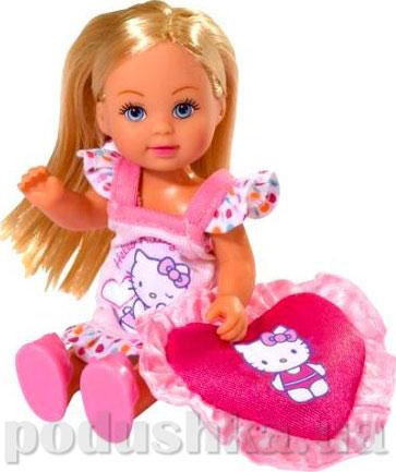 Кукла Эви Пижамная вечеринка Hello Kitty с аксессуарами, 2 вида Steffi Evi Love 5732787