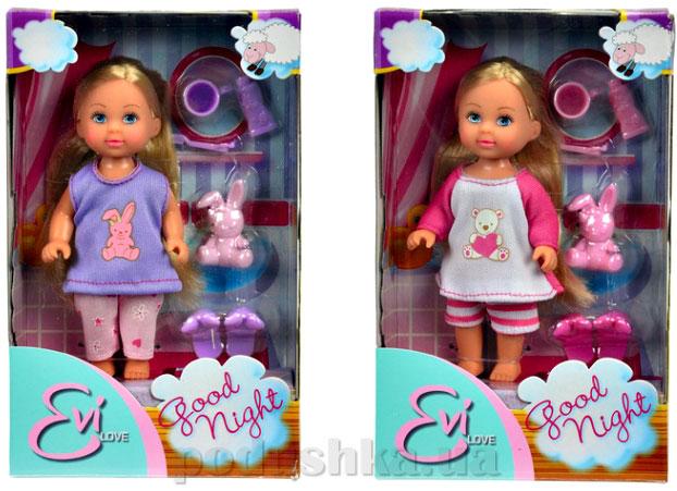 Кукла Эви спокойной ночи с тапочками, игрушкой и аксессуарами, 2 вида  Steffi Evi Love 5730515