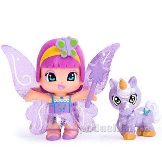 Кукла фея с единорогом Пинипон фиолетовые крылышки 700008932-4 Pinypon