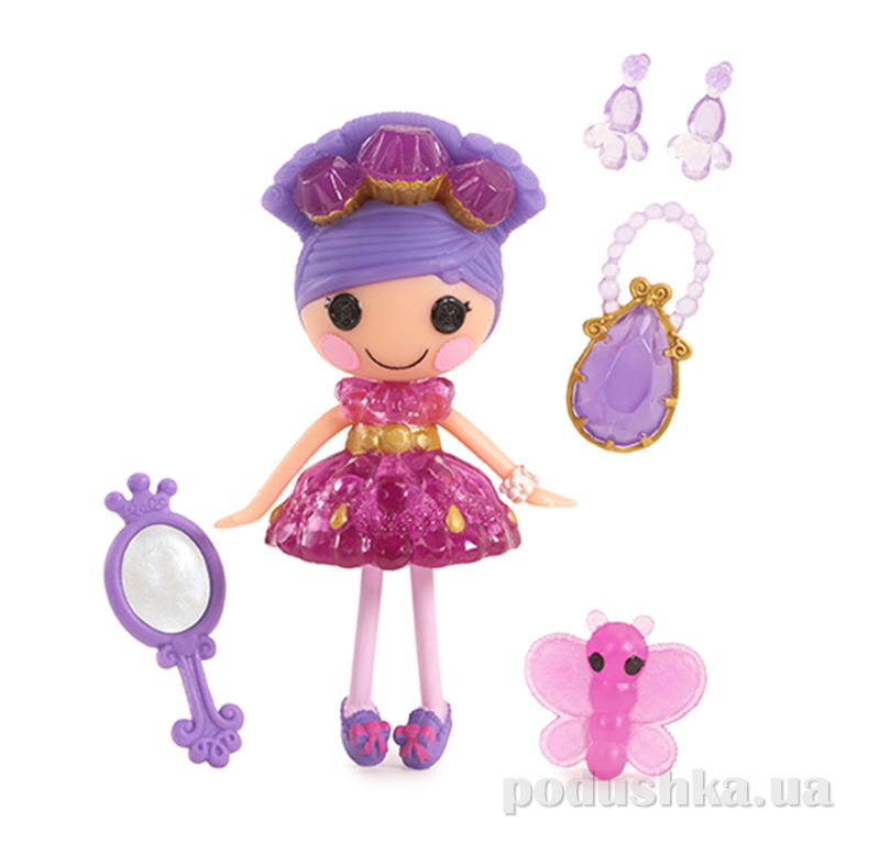 Кукла MiniLalaloopsy из серии Принцессы-самоцветы, Аметист (с аксессуарами) 529729