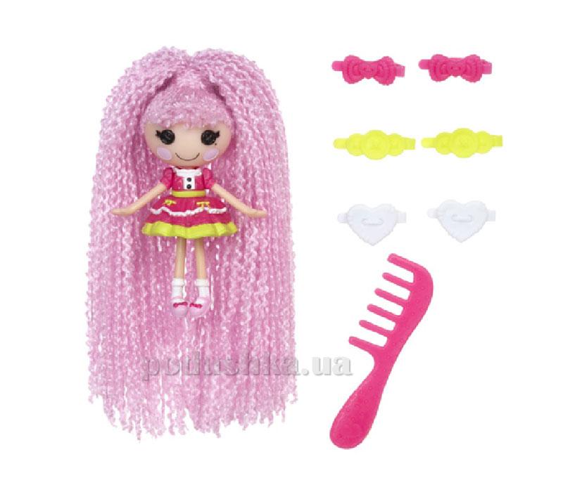Кукла Minilalaloopsy серии Кудряшки-симпатяшки Принцесса Блестинка (с аксессуарами) 522157