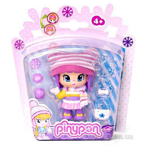 Кукла Пинипон в зимней одежде с полосатым шарфом 700010264-4 Pinypon