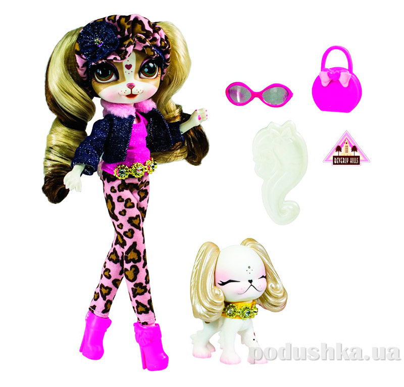 Кукла с домашним любимцем серии Путешествие Беверли Хиллс 33043 Pinkie Cooper Bridge