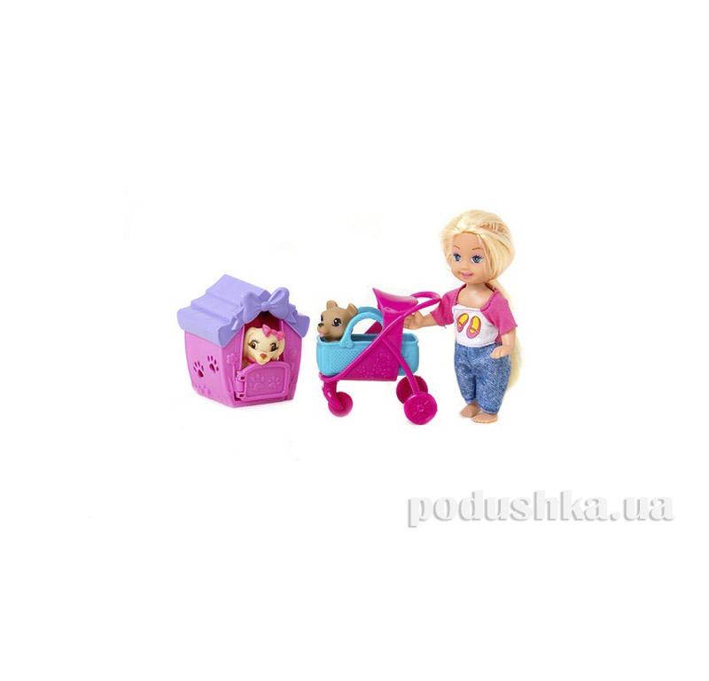 Кукла с коляской и собачкой Jambo К899-24