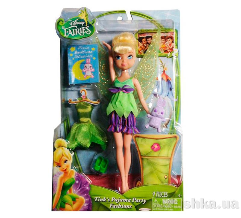 Кукла серия фея Звоночек 23 см Пижамная вечеринка 49846 Fairies Jakks