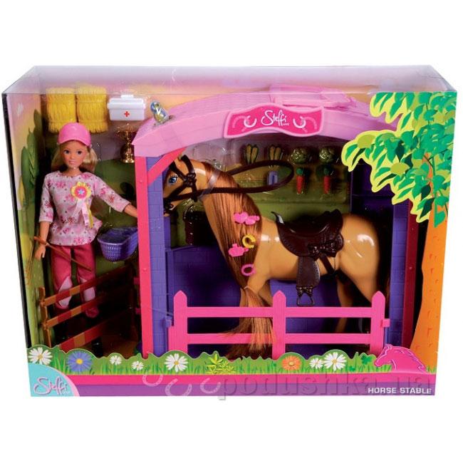 Кукла Штеффи с конем на конюшне Steffi Evi Love 5730373