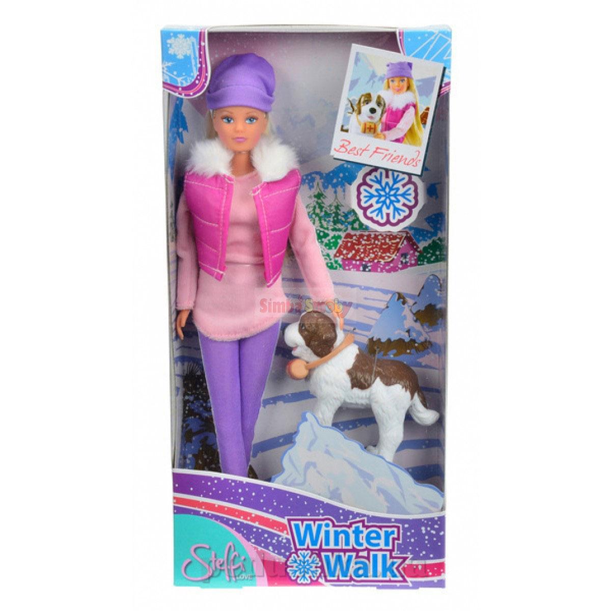 Кукла Штеффи Зимняя прогулка с собакой спасателем Steffi Evi Love 5730931