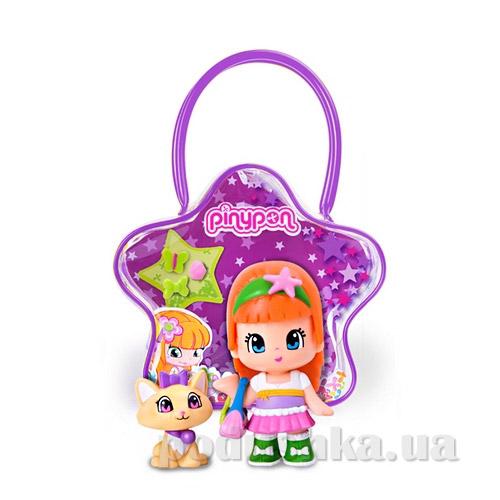 Кукла в сумочке Пинипон с котом фиолетовая сумка 700007515-5 Pinypon