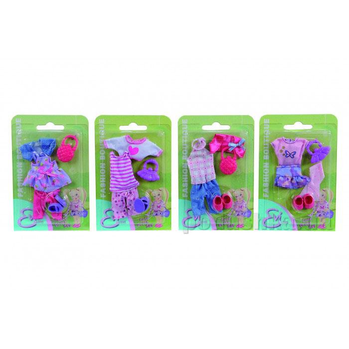 Кукольная одежда Эви Модный бутик 4 вида  Steffi Evi Love 5721042