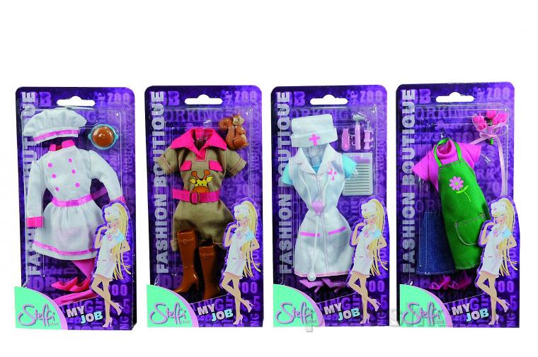 Кукольная одежда Штеффи Любимая профессия 4 вида Steffi Evi Love 5721059