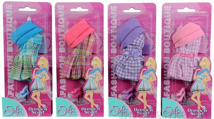Кукольная одежда Штеффи Романтическая прогулка 4 вида Steffi Evi Love 5721061