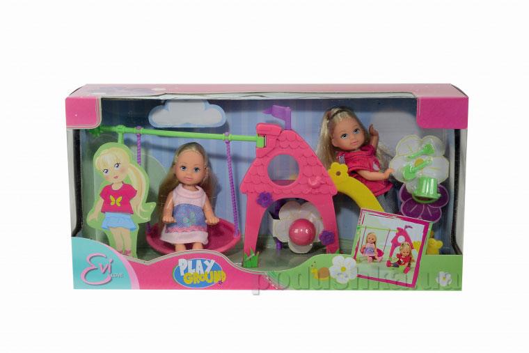 Кукольный набор Эви Детская площадка с 2-мя куклами и аксессуарами Steffi Evi Love 5735865