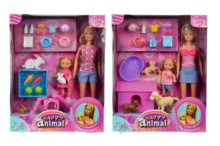 Кукольный набор Штеффи и Эви с животными Steffi Evi Love 5732156