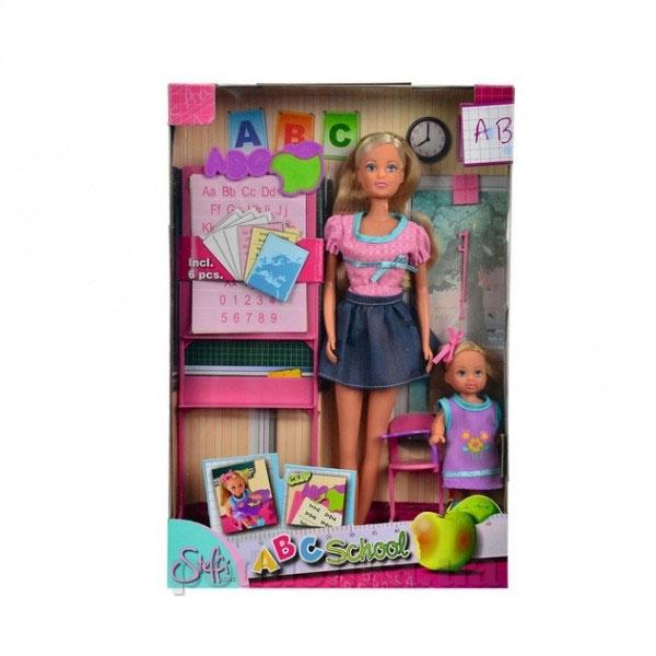 Кукольный набор Штеффи и Эви Школа с доской, партой и аксессуарами Steffi Evi Love 5730472