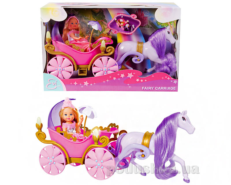 Кукольный набор Steffi Love Еви и сказочная карета с конем 573 5754