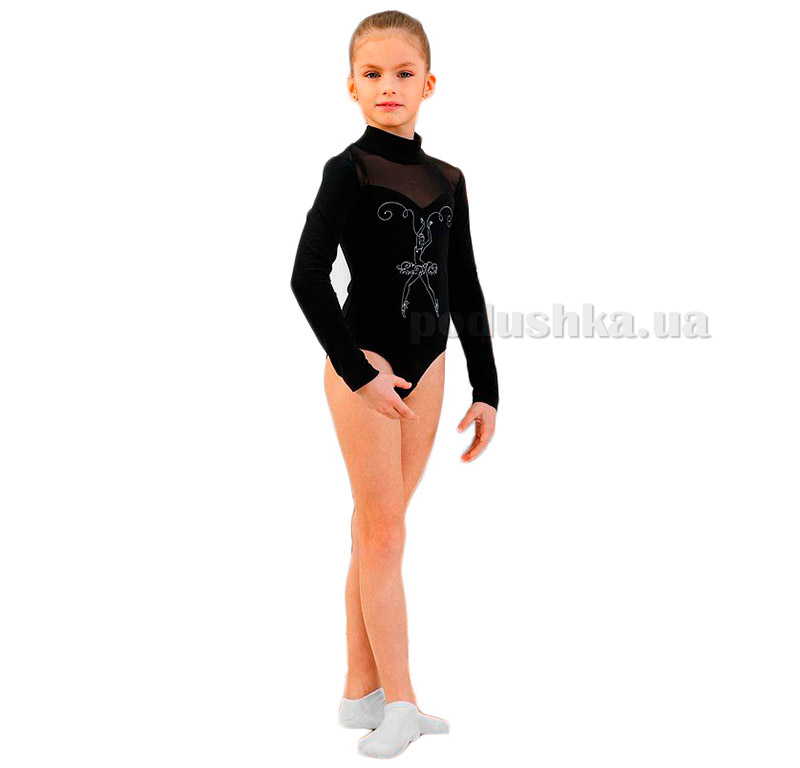 Купальник спортивный боди для девочек Arina Ballerina SGB201005 черный