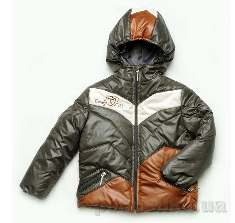 Куртка демисезонная для мальчика Модный карапуз 03-00456 хаки