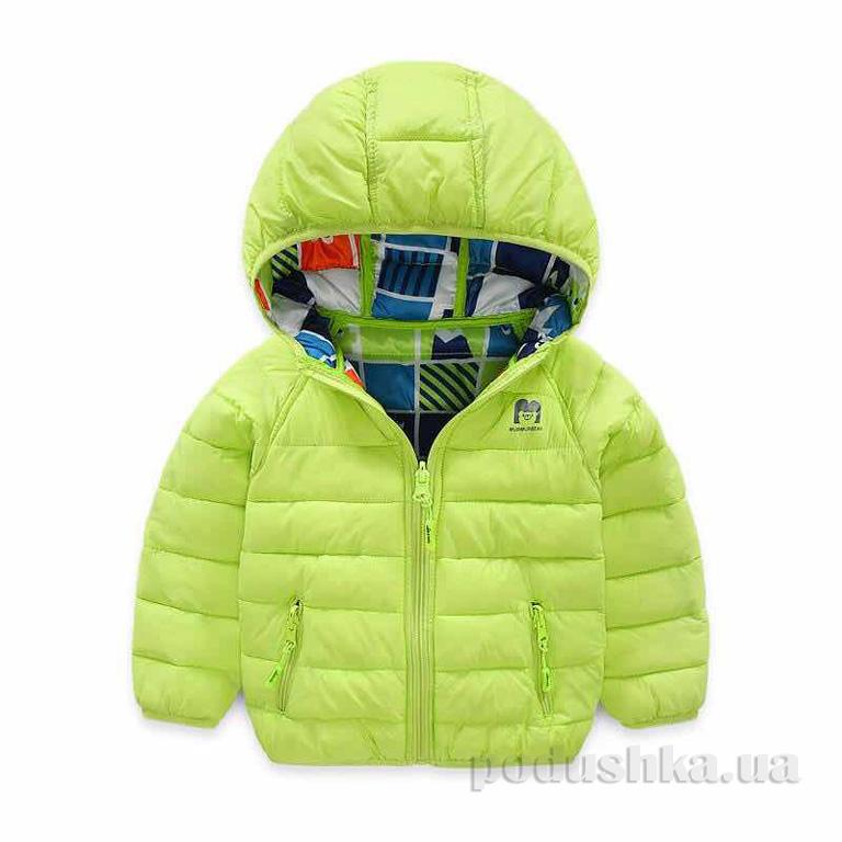 Куртка демисезонная для мальчика Murmur Bear 181007 фисташковая