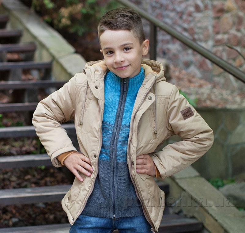 Куртка для мальчика Bembi КТ172 плащевка с утеплителем бежевая